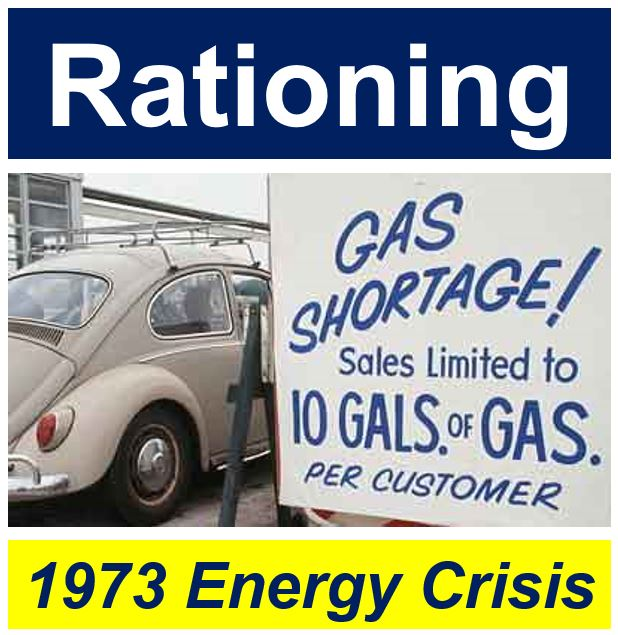 Rationing during 1973 energy crisis