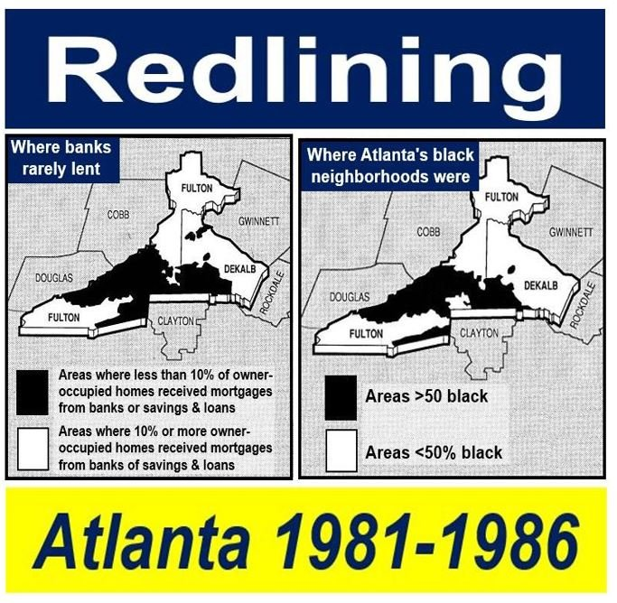 Redlining in Atlanta 1980s