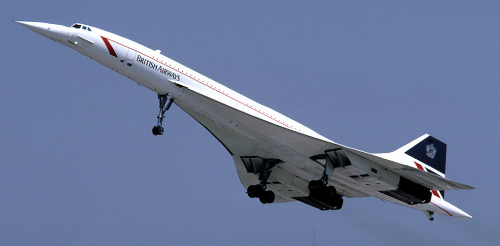 British Airways Concorde in 1986