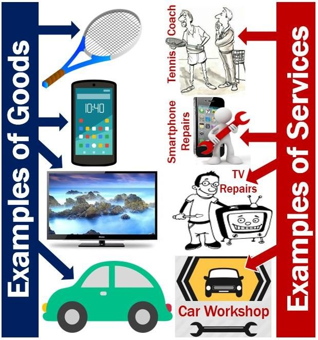 Examples of goods and services