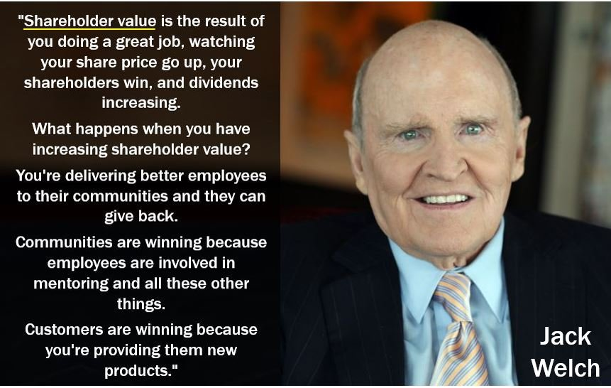 Jack Welch - Shareholder value quote