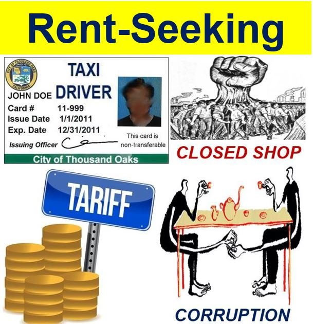Rent-seeking taxi license corruption tariffs closed shop