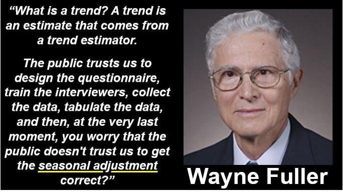 Wayne Fuller - Seasonal Adjustment Quote