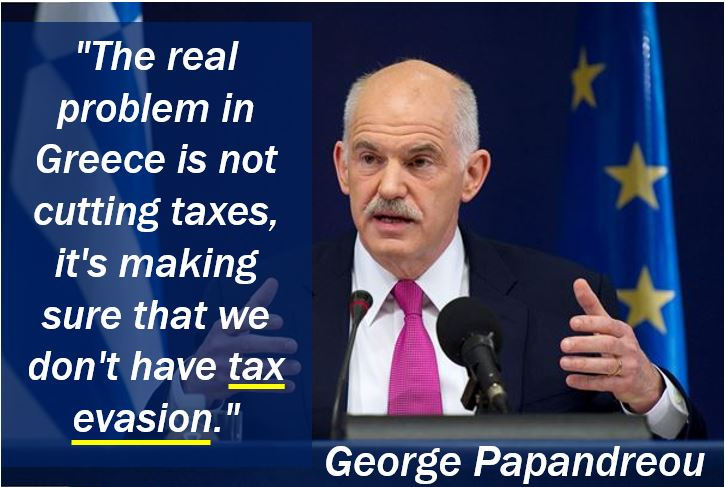George Papandreou - Tax Evasion Quote
