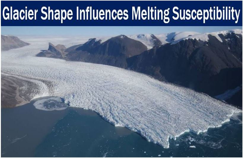 Glacier shape influences susceptibility to melting