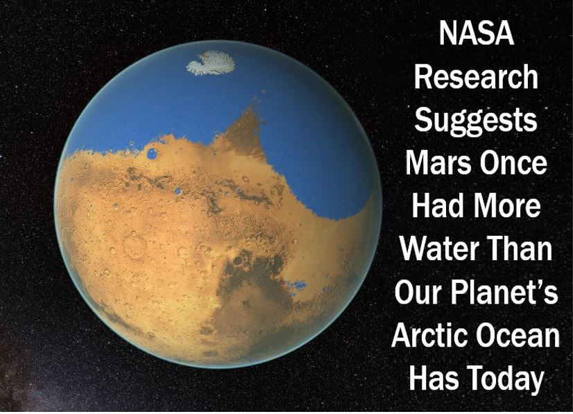 Mars had giant oceans
