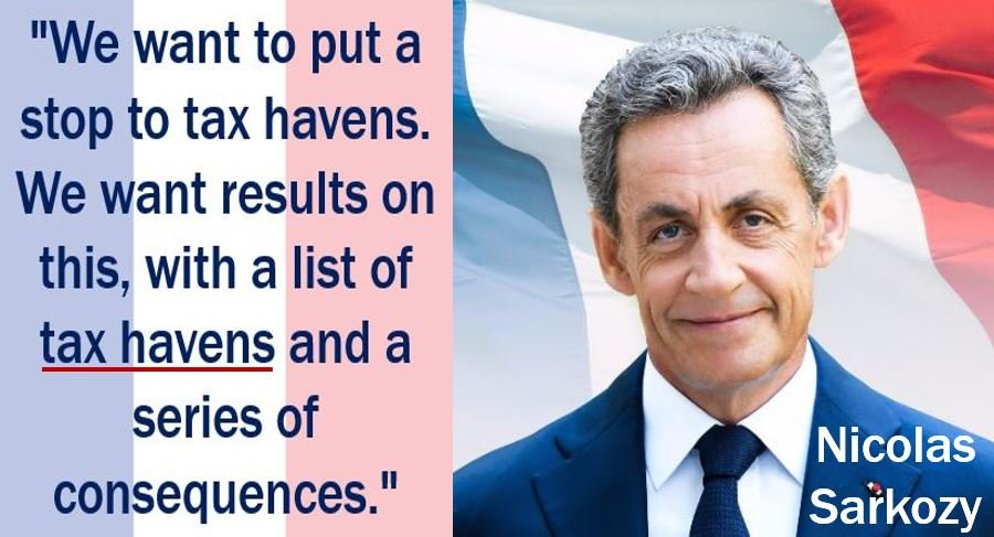 Nicolas Sarkozy - tax haven quote