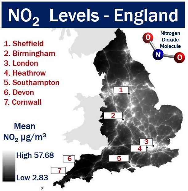 Nitrogen Dioxide Levels - England