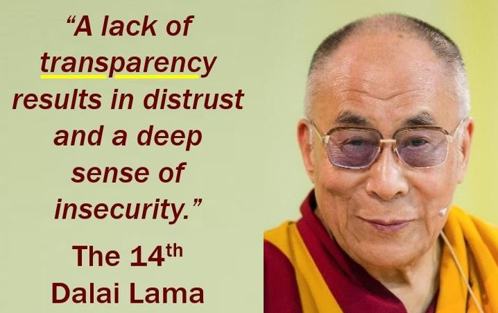 Transparency Quote - Dalai Lama