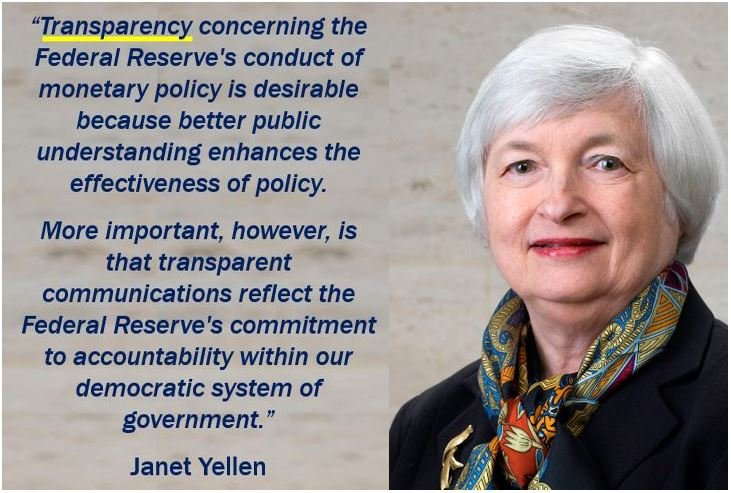 Transparency quote - Janet Yellen