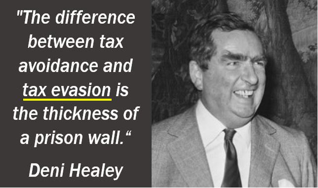 Tax evasion quote - Denis Healey