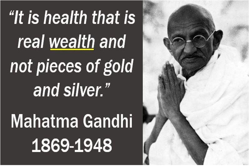Wealth quote - Mahatma Gandhi
