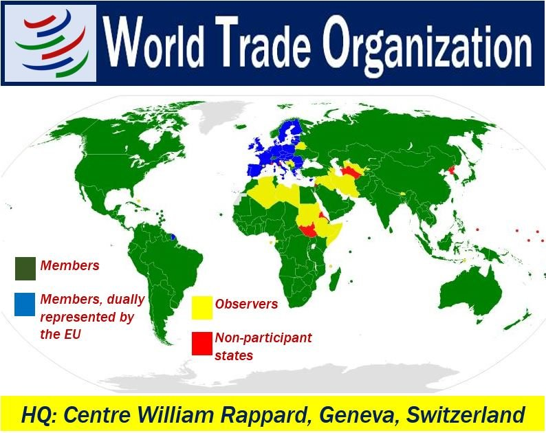 World Trade Organizaton Map