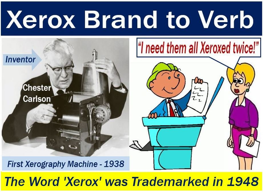 Xerox brand to verb