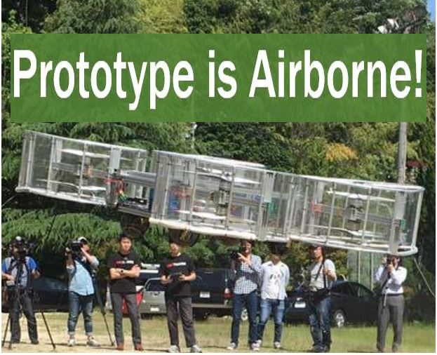 Flying car prototype is airborne