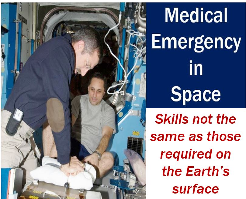 Medical emergencies in space - skills not the same