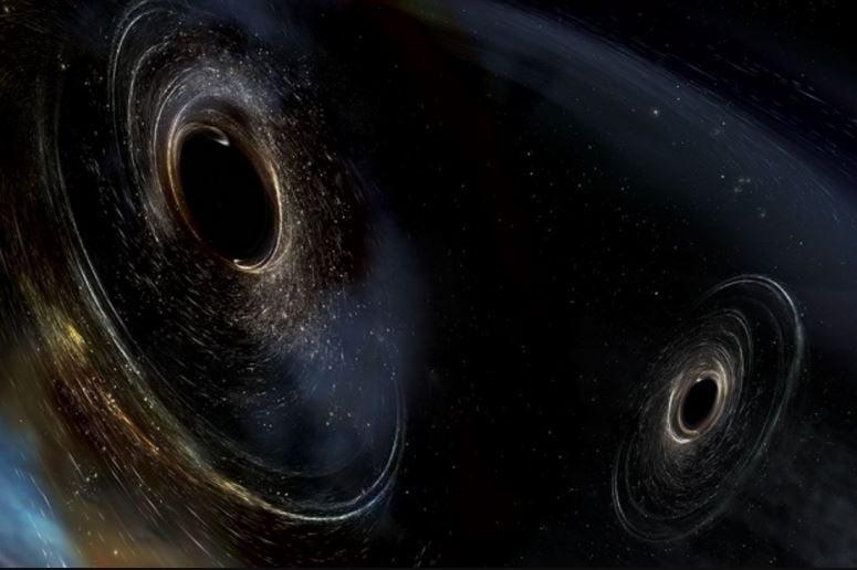 Pair of black holes - gravitational waves