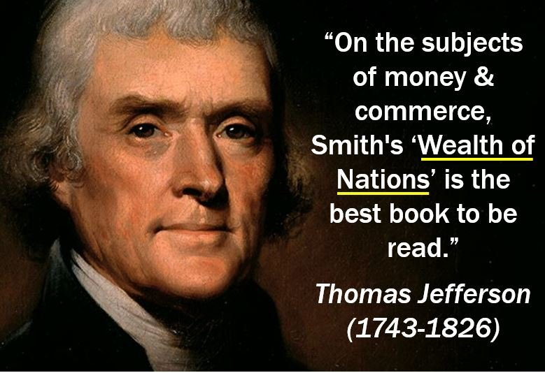 Thomas Jefferson quote - Wealth of Nations