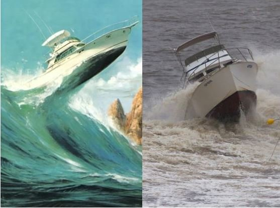 Wave damage insurance - sea vessels