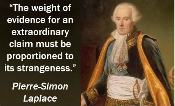 Weight of evidence quote - Pierre-Simon Laplace