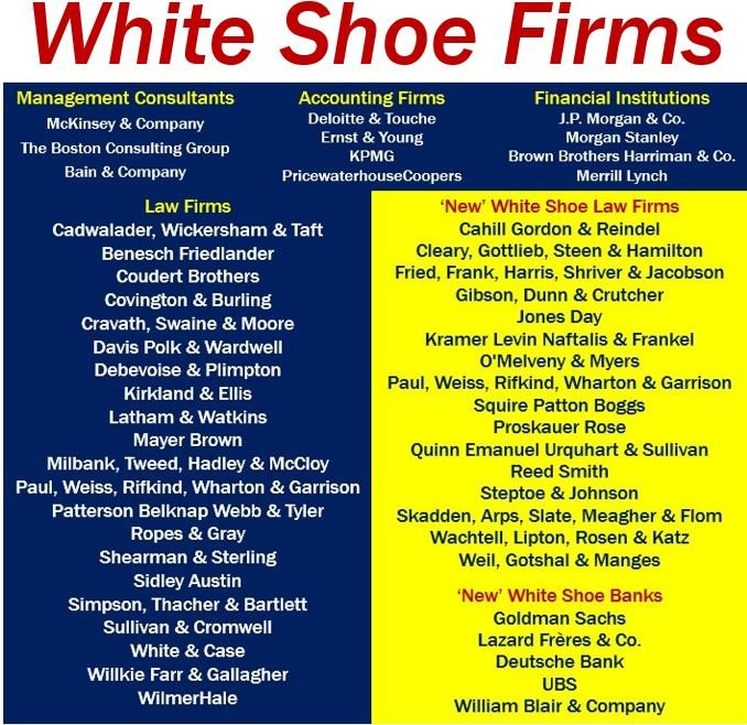 White Shoe Firm old and new