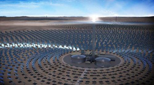renewable energy sources - SolarReserve - thermal solar plant