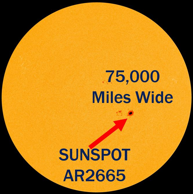 Giant Sunspot AR2665 detected by NASA