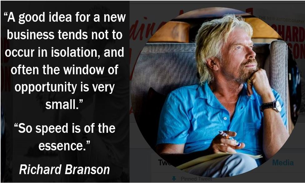 Richard Branson quote - Window of Opportunity