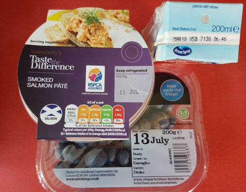 food waste - date labels examples