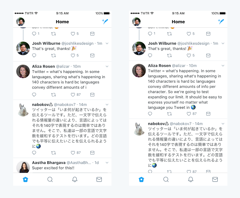 Twitter Tests 280-Character Limit Increase