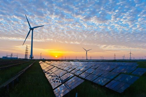 rapid electrification - wind and solar energy