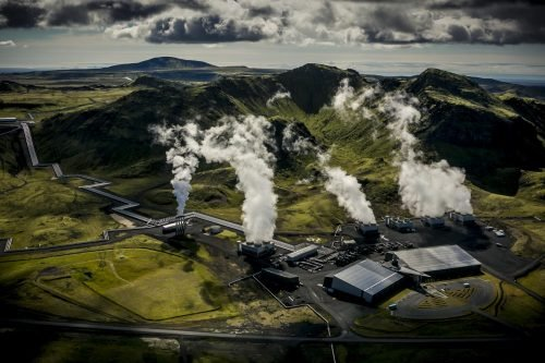 carbon removal - Hellisheidi geothermal power plant
