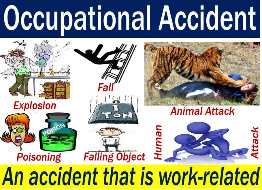 Occupational accident - image with explanation and examples