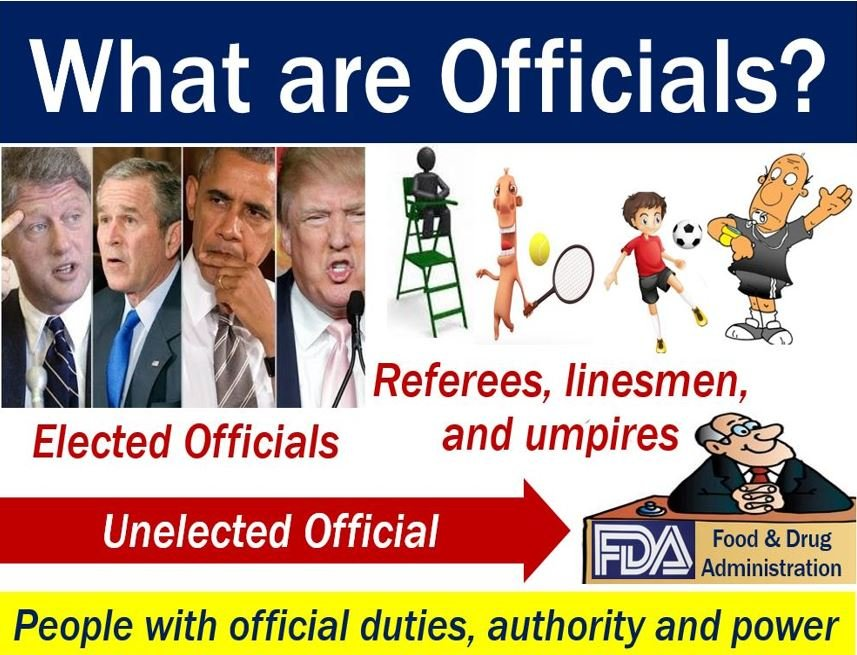 Officials - image with explanation and examples