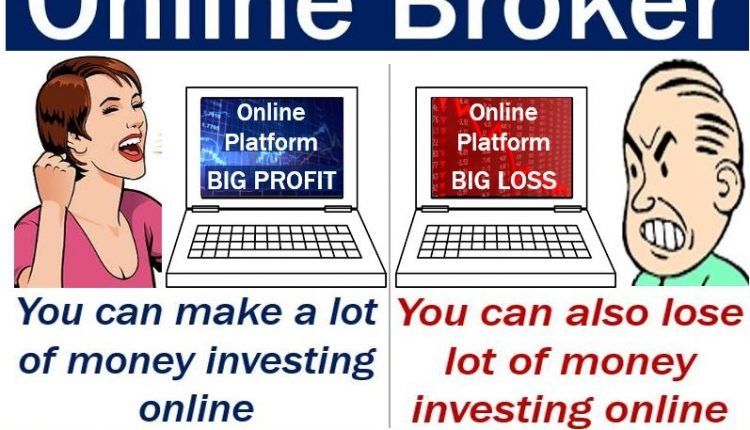 Online broker - image explaining meaning