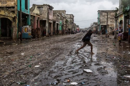 small island countries - Haiti after hurricane Matthew