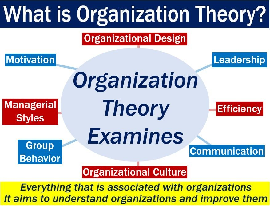 Organization Theory - explanation of meaning and what it examines