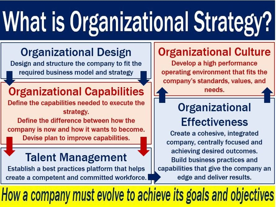 Organizational Strategy - image with definition
