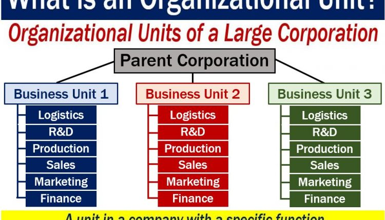 Organizational unit - image with explanation of meaning