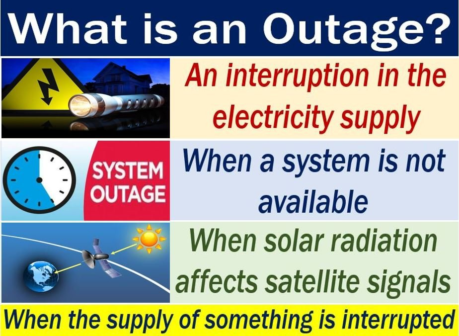 Outage - image with three meanings