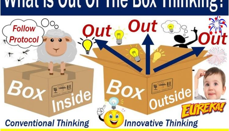 Outside the box thinking - explanation of meaning and examples