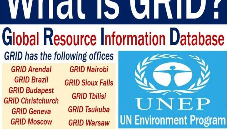 GRID Global Resource Information Database - definition and illustration