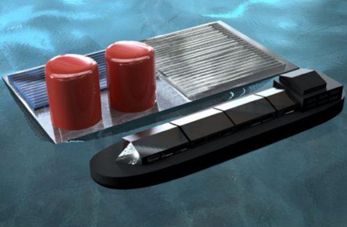 floating solar rig