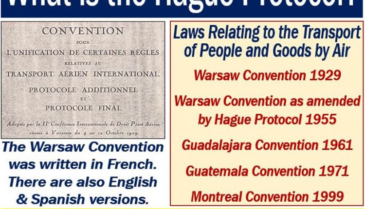 Hague Protocol - definition and explanation of the Warsaw Convention