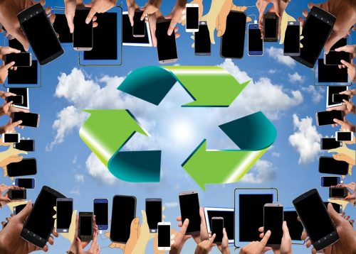 e-waste recycling old cellphones