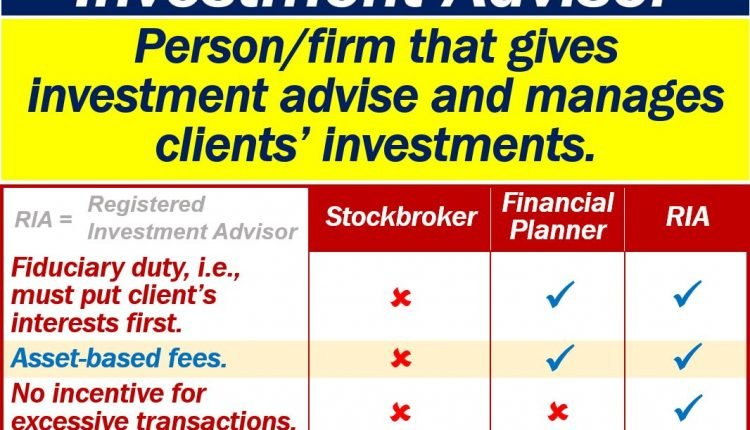 What is a registered investment advisor (RIA)? Definition and examples