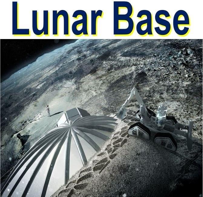 3D printing lunar base