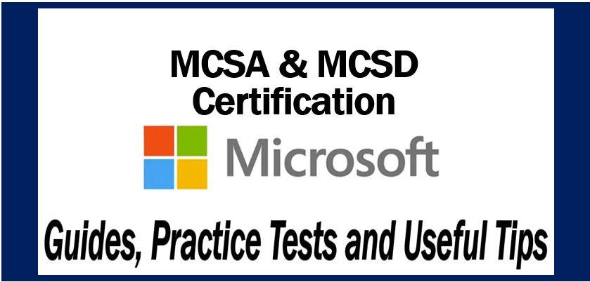 Microsoft MCSA and MCSD certification
